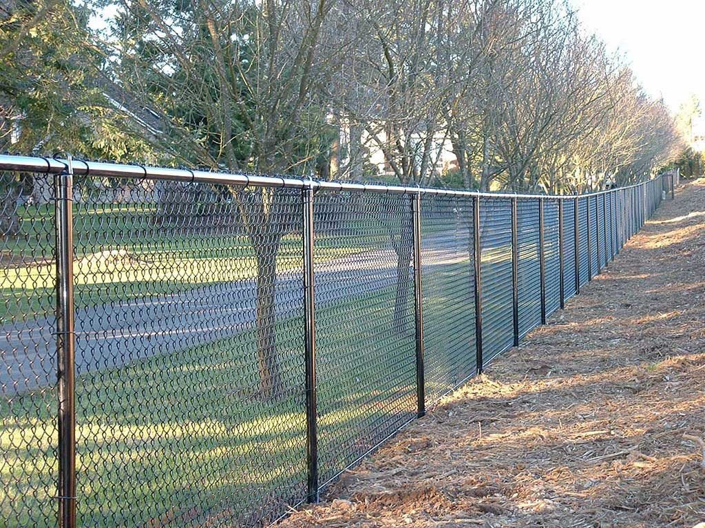 Black Vinyl Chain Link Fitzpatrick Fence And Rail