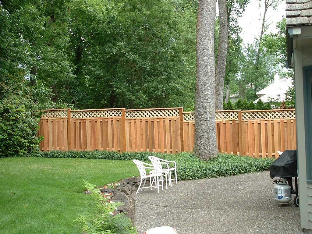 Lattice top cedar fence fitzpatrick fence and rail fitzpatrick baanklon Choice Image