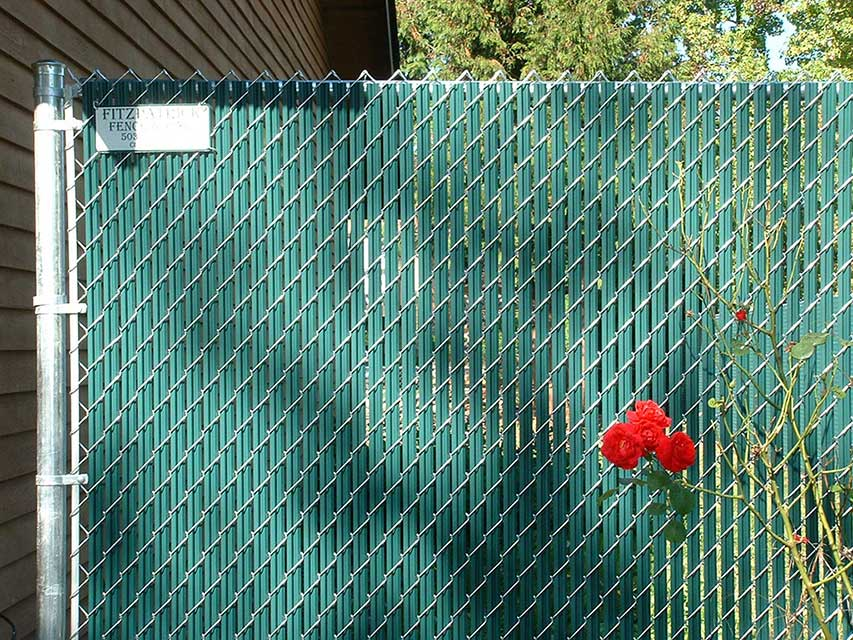 Slatted Chain Link Fence Fitzpatrick Fence And Rail